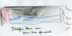 lea_illustration_weihnachtskarte_papa_schlafen_kann_man_wenn_man_fernsieht_aquarell